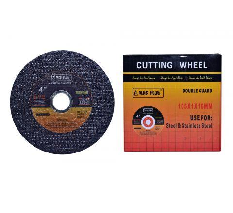 Alko Plus 4 inch Double Net Cut Off Wheel, Black, 105 X 1 X 16 mm ( abr_cut_cow_001 )