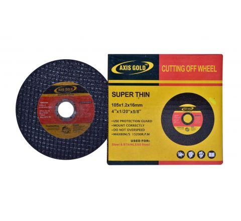 Axis Gold 4 inch Double Net Cut Off Wheel, 105 X 1.2 X 16 mm ( abr_cut_cow_016 )