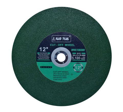 Alko Plus 12 inch Single Net Inox Cut Off Wheel, Green, 305 X 2 X 31.75 mm ( abr_cut_csw_003 )