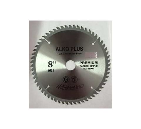 Alko Plus Gold TCT Saw Blade 8 Inch x 60T for Wood Cutting by Alko Plus