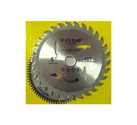 Alko Plus Silver TCT Saw Blade 5 Inch x 40T for Wood Cutting by Alko Plus