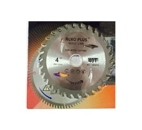 Alko Plus Gold TCT Saw Blade 4 Inch x 40T for Wood Cutting by Alko Plus