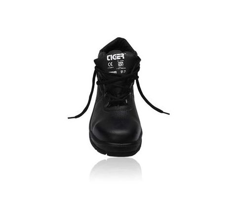 Tiger Leopard 7 No. Black Steel Toe Safety shoes