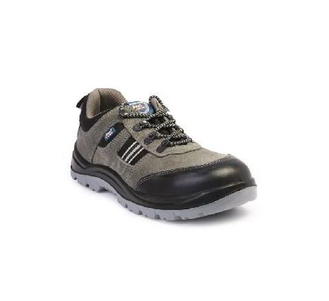 Allen Cooper AC-1156 6 No. Black and Brown Steel Toe Safety Shoes